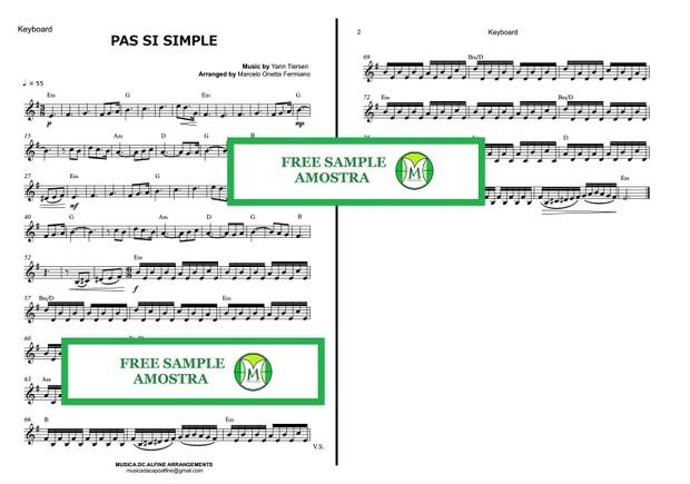 Pas Si Simple - Yann Tiersen - Keyboard or Violin - Sheet Music.pdf