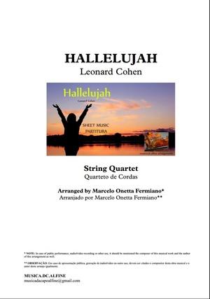 Hallelujah | L.Cohen | String Quartet | Score and Parts Download