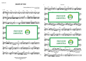 Shape Of You - Ed Sheeran - Keyboard or Violin - Sheet Music