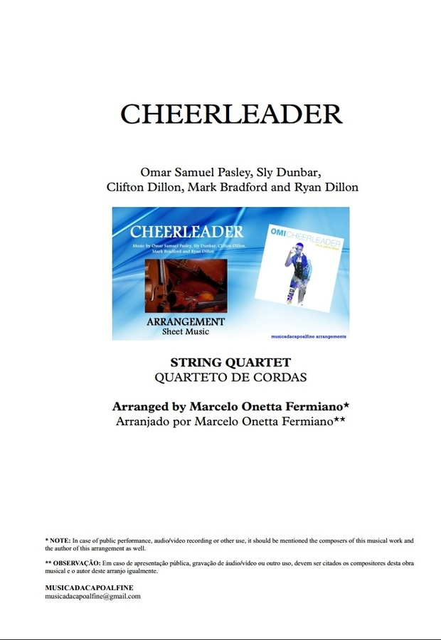 CHEERLEADER - OMI - String Quartet - Sheet Music - Score and parts.pdf