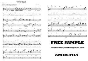 Titanium - D. Guetta -Keyboard with Chords- Sheet Music Partitura Download.pdf
