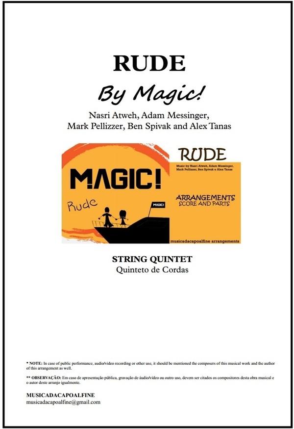 Rude | Magic | Quinteto de Cordas | Grade e Partes | Download | Tons: Db e D