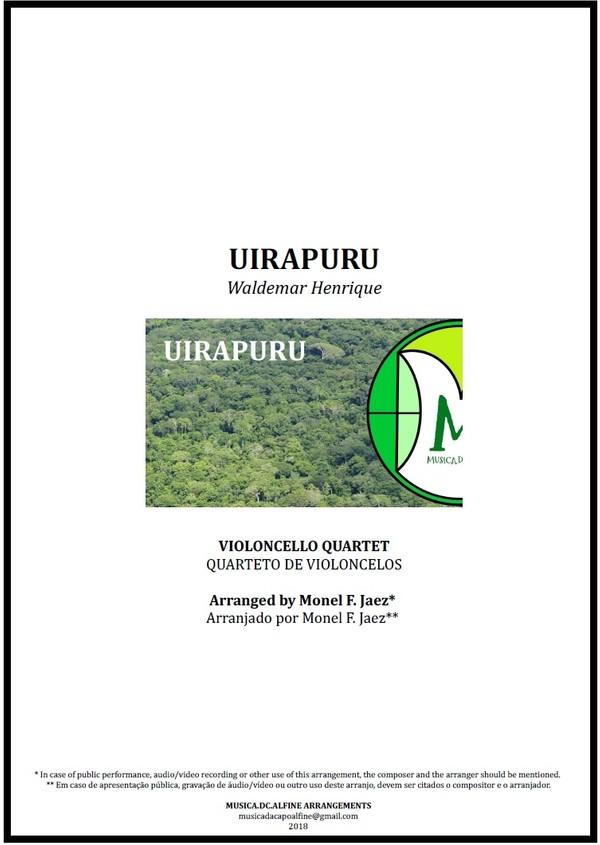 Uirapuru | Waldemar Henrique | Quarteto de Violoncelos | Grade e Partes | Download | Partitura