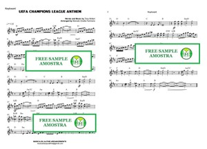 UEFA Champions League Anthem - Keyboard or Violin - Sheet Music