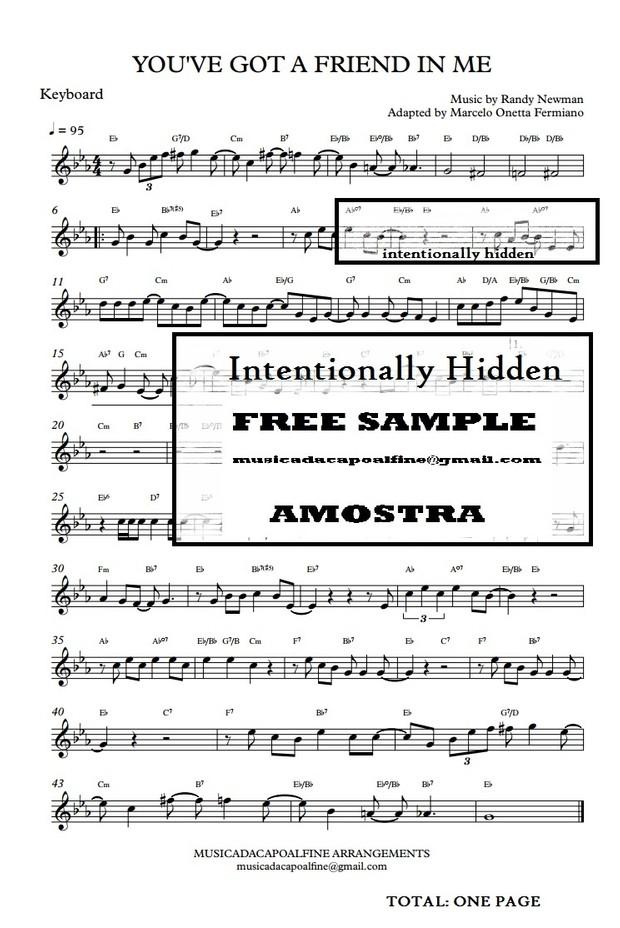 You've Got a Friend in Me - Randy Newman - Keyboard - Parts.pdf