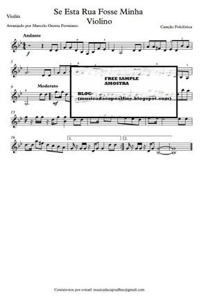 Violin - Se Esta Rua Fosse Minha