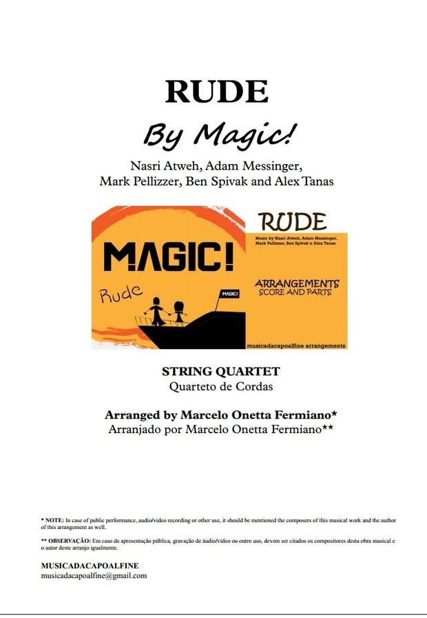 Db Major - RUDE - MAGIC! - String Quartet Sheet Music - Score and parts.pdf