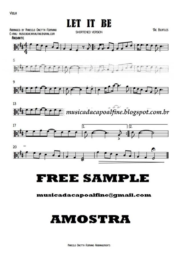 Let it Be - Viola solo - Sheet Music Download.pdf