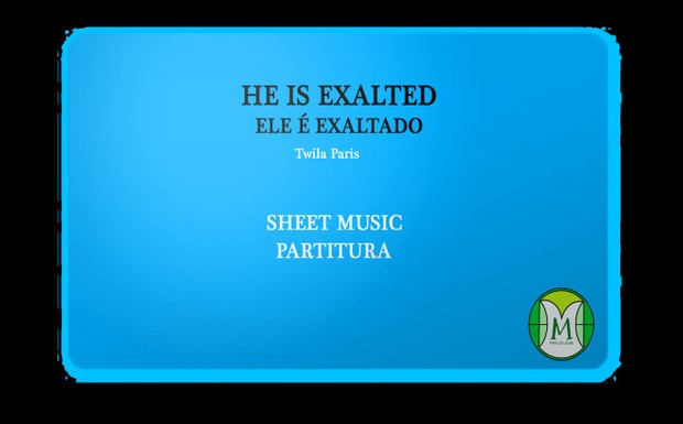 He is Exalted - Violin and Cello - Score and parts - Sheet Music