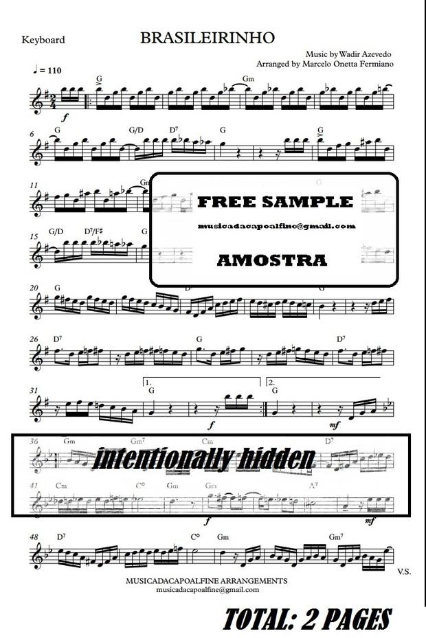 Brasileirinho - Waldir Azevedo - KEYBOARD - Sheet Music Download