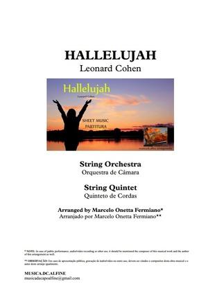 Hallelujah   Orquestra de Cordas ou Quinteto de Cordas   Partitura Completa