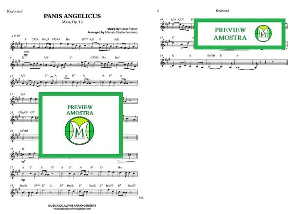 Panis Angelicus - César Franck - Keyboard or Violin Sheet Music
