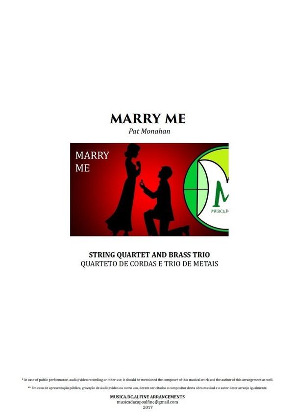 Marry Me | Train | Quarteto de Cordas e Trio de Metais | Partitura Completa