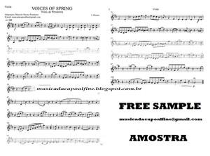 Voices of Spring - Strauss - Vozes da Primavera - Violin - Download - sheet music