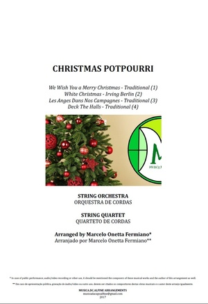 PotPourri de Natal   Orquestra de Cordas ou Quarteto de Cordas   Grade e Partes   Arranjo Completo