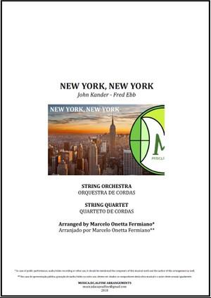 New York, New York   Frank Sinatra   Orquestra de Cordas ou Quarteto de Cordas   Partitura Completa