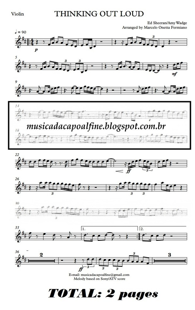 Thinking Out Loud - Violin - Parts sheet music download.pdf