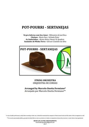 Pot-Pourri | Músicas Sertanejas | Orquestra de Cordas | Partitura Completa