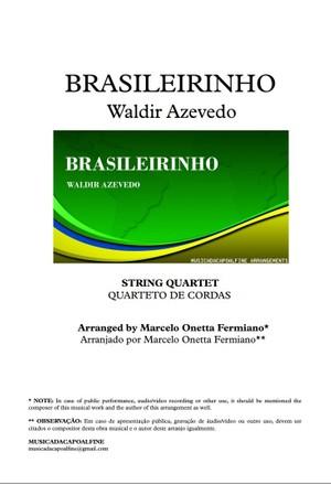 Brasileirinho - Waldir Azevedo - String Quartet Sheet Music Download - Partitura PDF