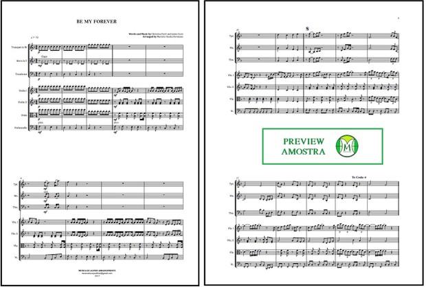 Be My Forever | Christina Perri | Quarteto de Cordas e Trio de Metais | Partitura Completa