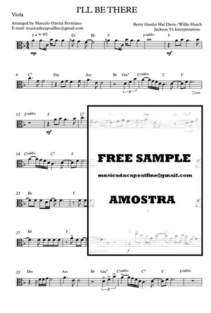 I'LL BE THERE- VIOLA SOLO Sheet music Download