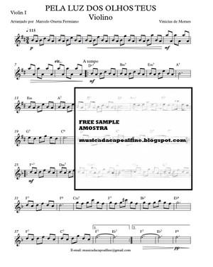 PELA LUZ DOS OLHOS TEUS - Violin pdf