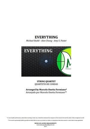 Everything   Michael Bublé   Quarteto de Cordas   Partitura Completa Grade e partes