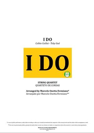 I Do | Colbie Caillat | Quarteto de Cordas | Partitura Completa