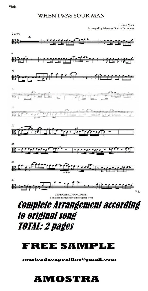 When I was Your Man - B. Mars - Viola - Sheet Music Download - Parts.pdf