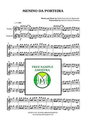 Menino da Porteira - 2 Violinos - Partitura com Grade e as Partes