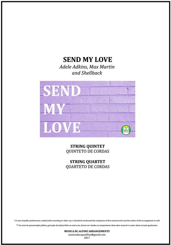 Send My Love | Adele | String Quartet or String Quintet | Score and Parts | Download