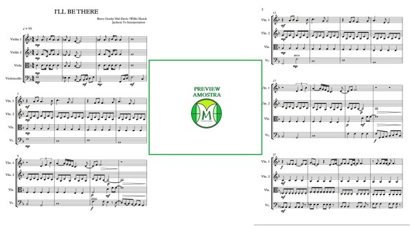 I'll be There | Jackson 5 | String Quartet | Score and parts | Download