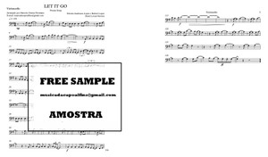 Let It Go -Demi Lovato - Violoncelo Solo Download (Frozen song) Sheet Music