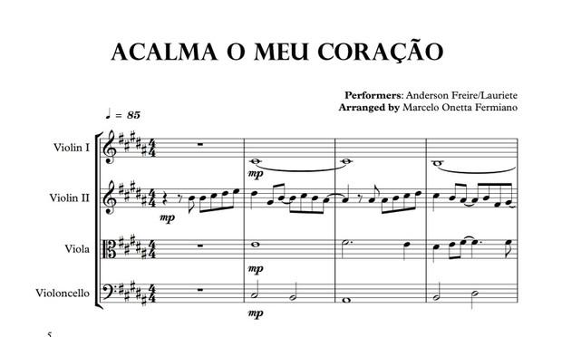 Acalma o Meu Coração - Quarteto de Cordas Partitura (2) - Score and parts.pdf