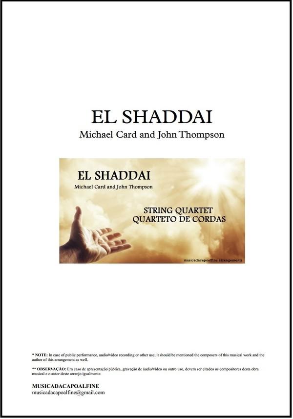 El Shaddai | Quarteto de Cordas | Grade e Partes | Partitura | Download