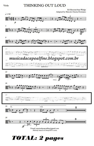 Thinking Out Loud - Ed Sheeran - Viola - Parts sheet music download.pdf