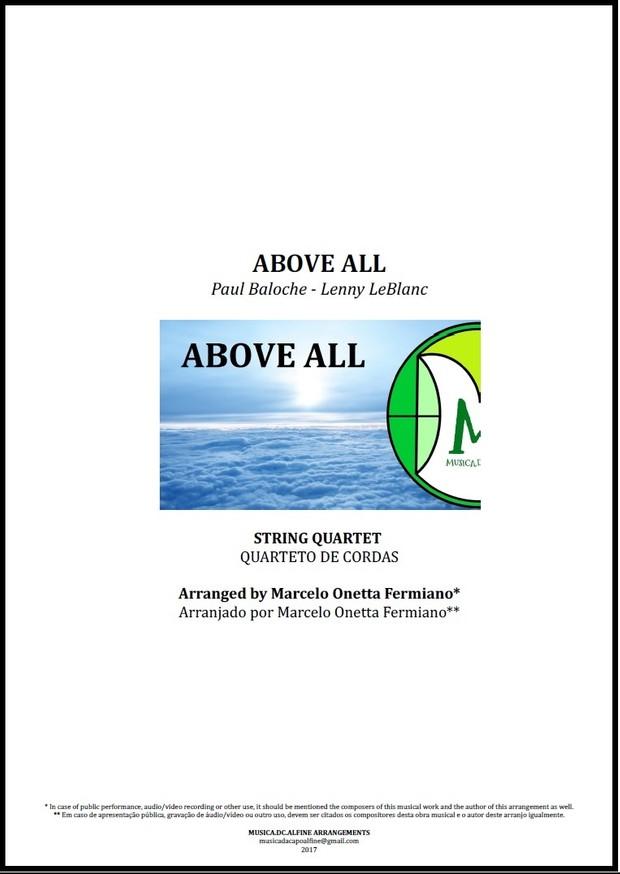 Above All | Michael W. Smith | Quarteto de Cordas | Partitura Completa Download