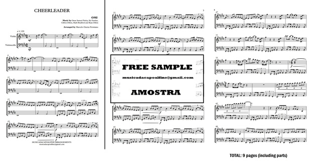 CHEERLEADER - OMI - VIOLIN AND VIOLONCELLO - Sheet Music - Score and parts.pdf