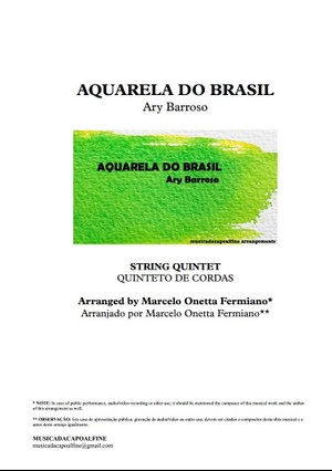 AQUARELA DO BRASIL - Ary Barroso - String Quintet or Chamber Orchestra Sheet Music