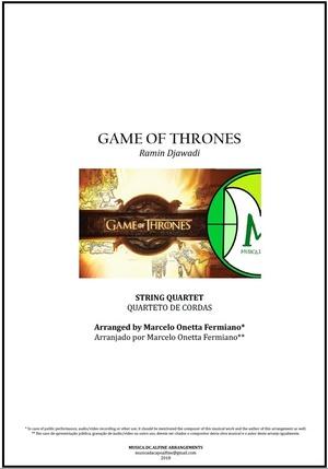 Game Of Thrones | Ramin Djawadi | String Quartet | Score and Parts Download
