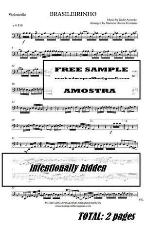 Brasileirinho - Waldir Azevedo - Violoncello - Sheet Music Partitura PDF