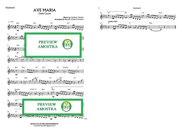 Ave Maria - Caccini - Keyboard or Violin Sheet Music