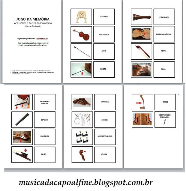 JOGO DA MEMÓRIA - Acessórios e Partes do Violoncelo (Português) Download