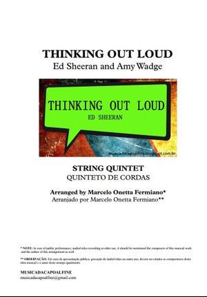 Thinking Out Loud - Ed Sheeran - String Quintet - Score and parts sheet music download.pdf