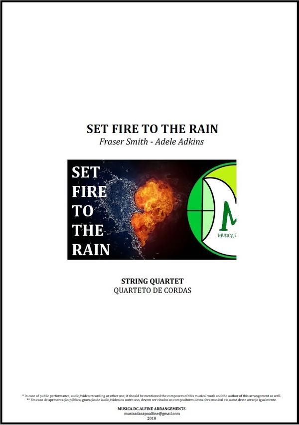 Set Fire To The Rain | Adele | Quarteto de Cordas | Partitura Completa Download