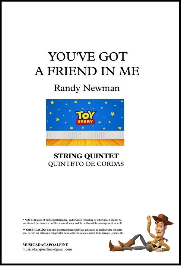 You've Got a Friend in Me | Randy Newman | Quinteto de Cordas | Grade e Partes | Download
