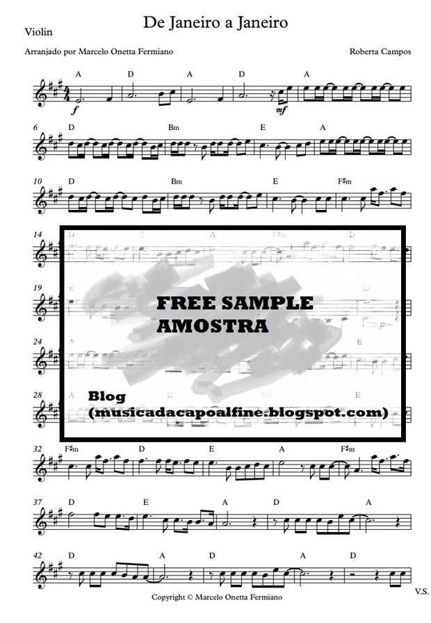 De Janeiro a Janeiro - R. Campos - Violin cover (Brazilian Song)