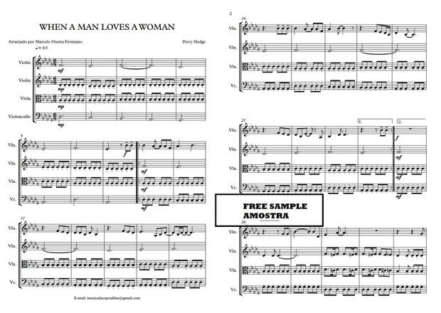 When a Man Loves a Woman - String Quartet - Score and parts.pdf Sheet music
