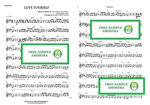 Love Yourself - Justin Bieber - Keyboard - Sheet Music