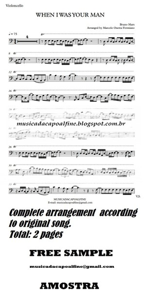 When I was Your Man - B. Mars - Violoncello - Sheet Music Download - Parts.pdf